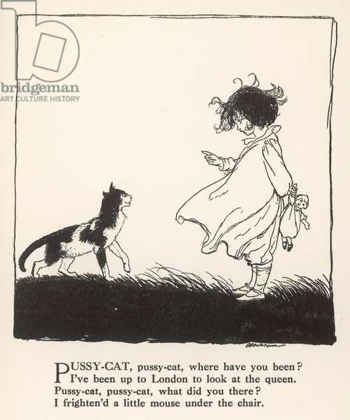 Pussy Cat, Pussy Cat, 1912, illustration