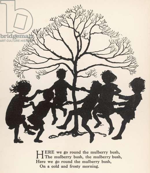 Mulberry Bush Rhyme, 1912, illustration