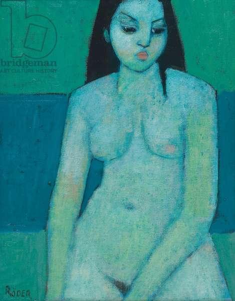 Angelina Nude (oil on board)