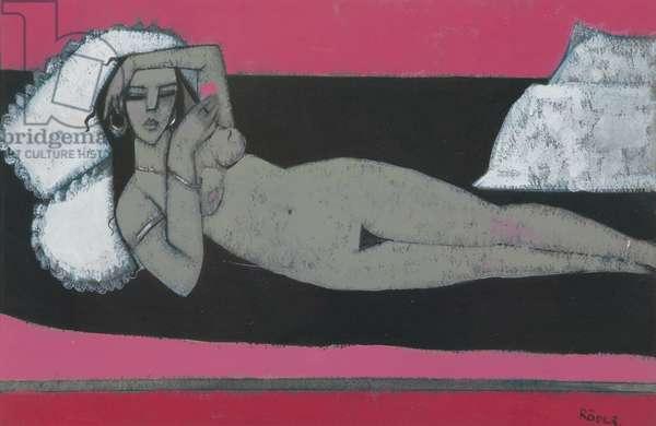 Carmena Resting (acrylic on paper)