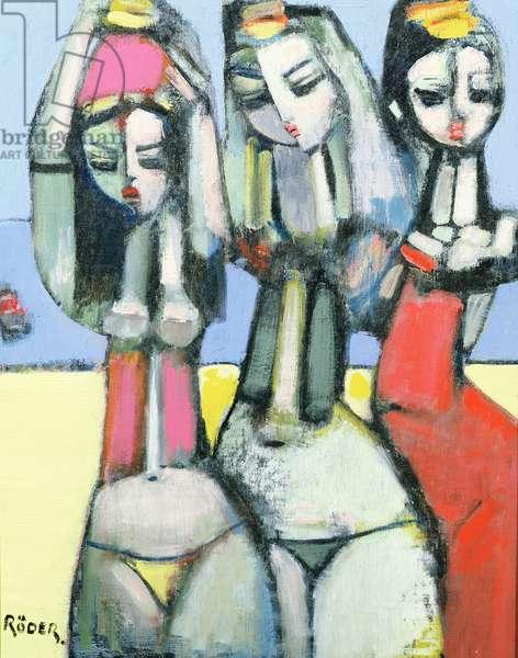 Friends, 2007 (oil on canvas board)