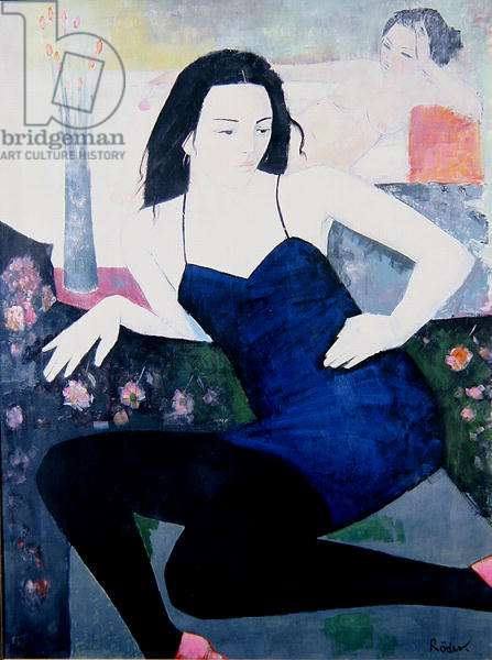 Antoinette in her Little Black Dress, 1994 (oil on canvas)