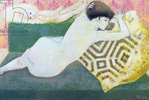 Achanthus, 1990 (oil on canvas)