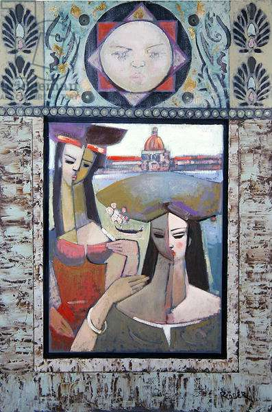 From the Gilded Old Palazzo, 1993 (oil on board)