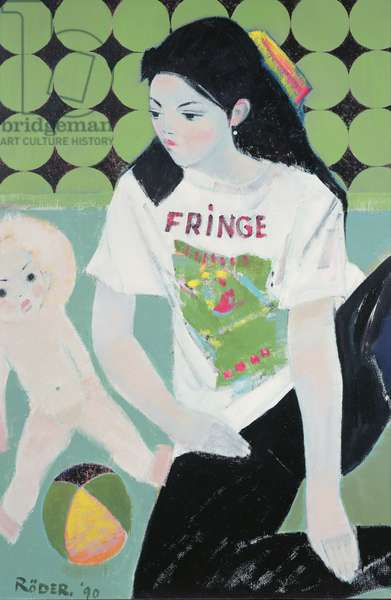 Fringe, 1990 (oil on board)