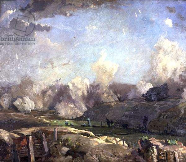 L'Index - Champagne (war landscape) 1918 (oil on canvas)