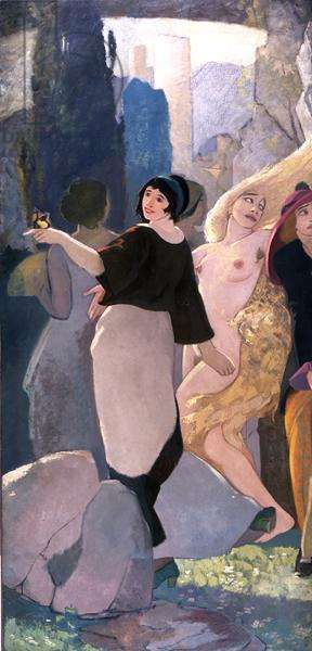 The Daughters of Beauty, c.1920 (oil on canvas) (see also 151754 and 151755)
