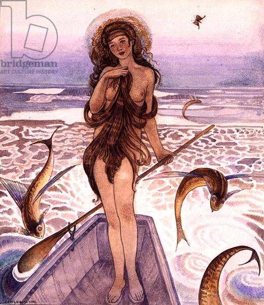 The Sea Maiden, c.1918 (w/c on paper)