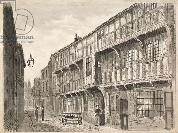 King's Head, High Street, Hull, 1888 (pen & ink on paper)