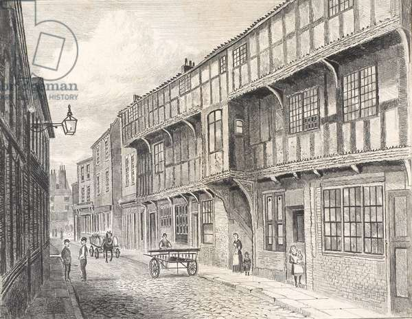 King's Head, High Street, Hull, c.1880 (pencil on paper)