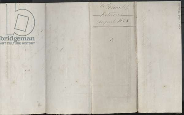 Page from 'Friendship Plantation Journal', August, 1828 (ink on paper)