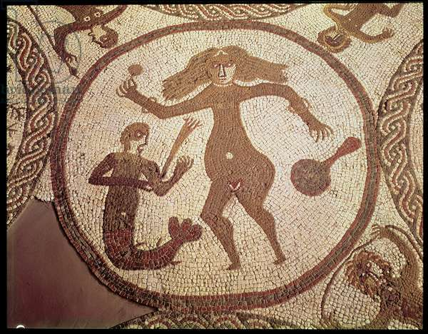 The Venus Mosaic, central panel found at Rudston, East Yorkshire, c.350 AD (mosaic)