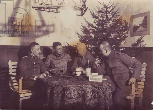 German officers fetting Noel in an occupied house