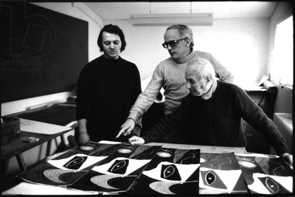 Joan MIRO, 1973 (b/w photo)