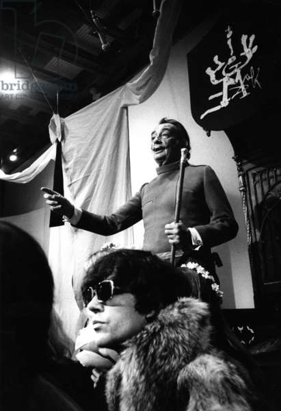 Salvador Dali, 1967 (b/w photo)