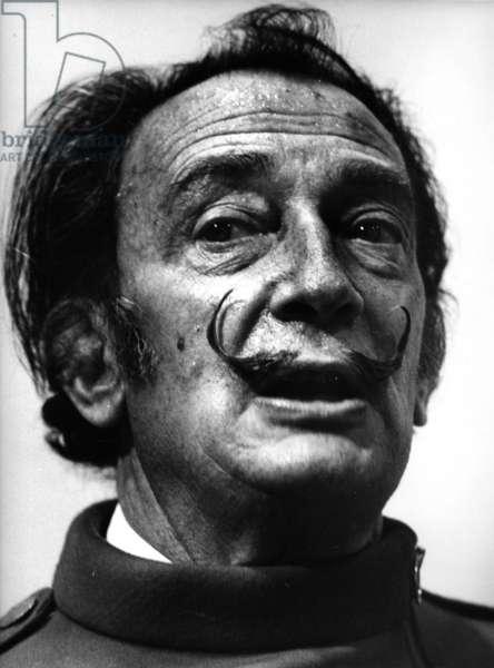 Salvador Dali, 1966 (b/w photo)