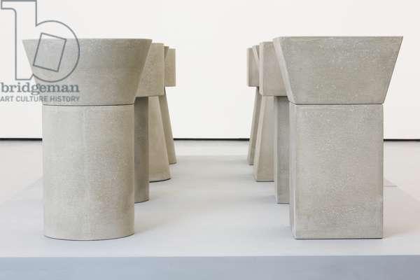 Concrete Tables, 1980-81 (cast concrete) (cast concrete)