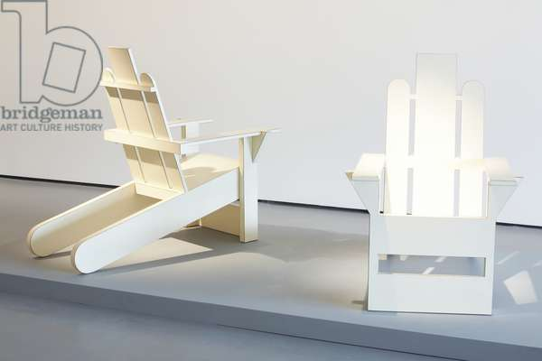 Lawn Chairs (a pair), 1976 (lacquered formica/wood)