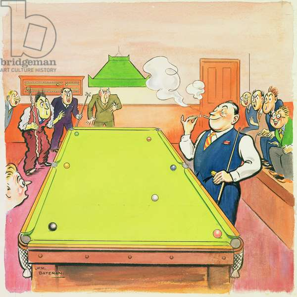The Man Who Lit Up at the Snooker Table