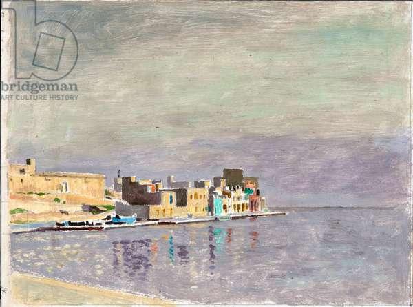 Marsaskala, Malta (oil on paper)