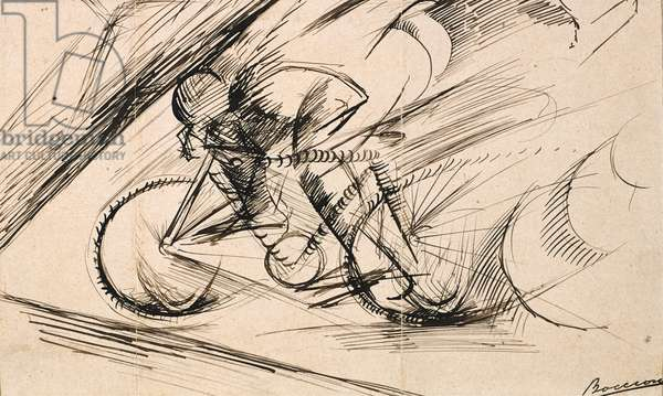 Dynamism of a Cyclist, 1913 (pen & ink on paper)
