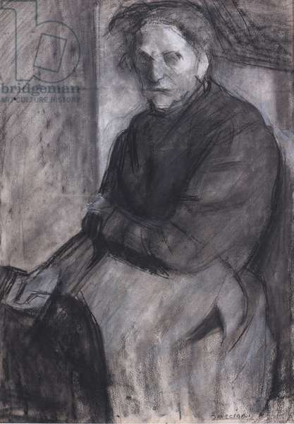 Seated Woman (The Artist's Mother) 1907 (charcoal and chalk on paper)