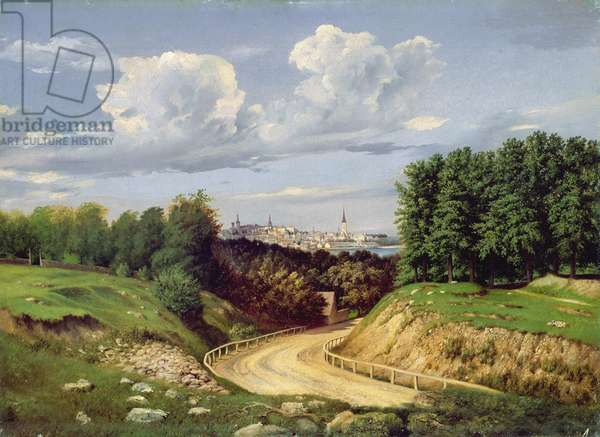 View of Tallinn (oil on canvas)