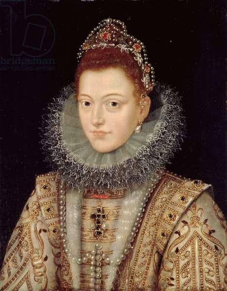 Portrait of Isabella Clara Eugenia (1566-1633) c.1599 (oil on panel)
