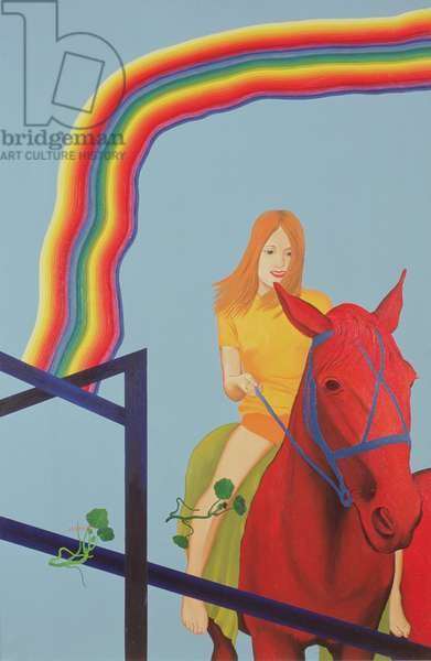 Red Horses II, 1974 (oil on canvas)