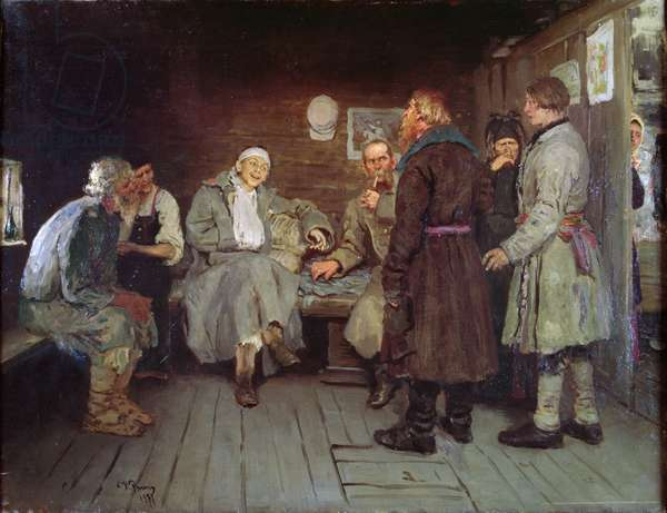 Soldier's Tale, 1877 (oil on canvas)