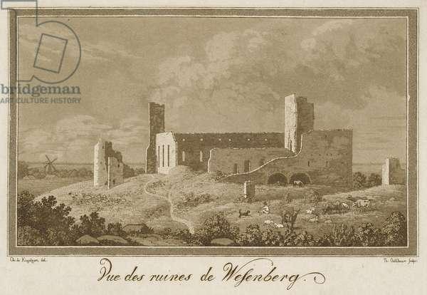 View of Ruins of Rakvere Castle, 1828 (aquatint)