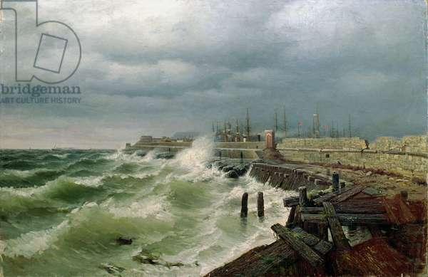 Odessa Pier, 1885 (oil on canvas)