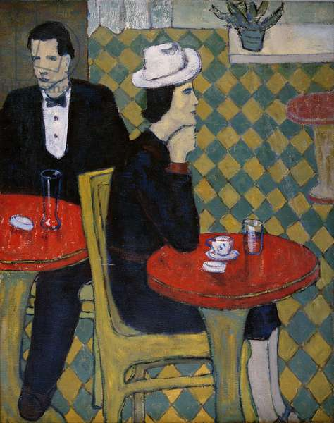 In a Cafe, 1940 (oil on canvas)