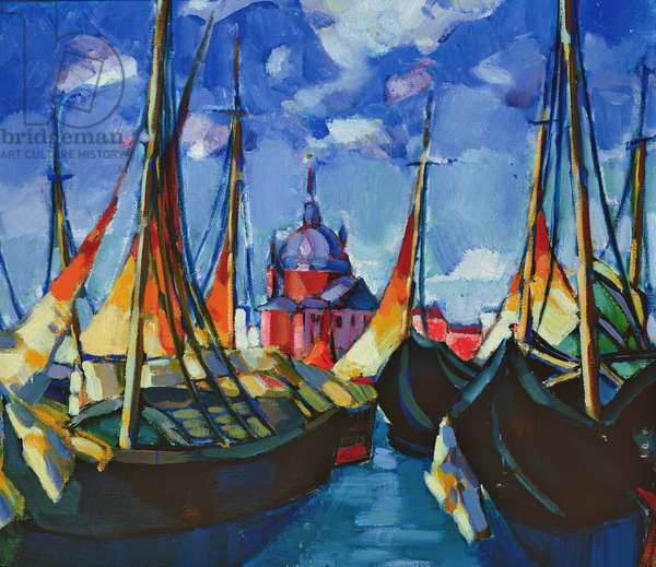 Sailing Boats in Venice, 1922-3