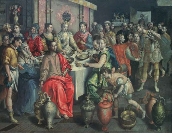 The Marriage at Cana, 1597 (oil on canvas)