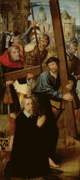 Christ Carrying the Cross, left wing from the Altar of St. Anthony, 1510-18 (tempera & oil on panel)