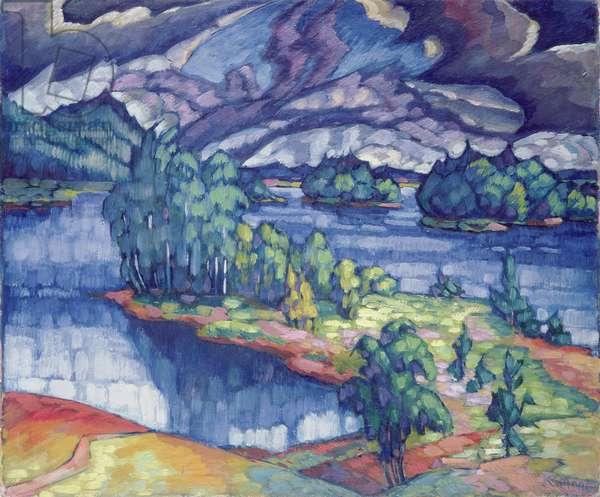 Lake Puhajarv, 1918-21 (oil on canvas)