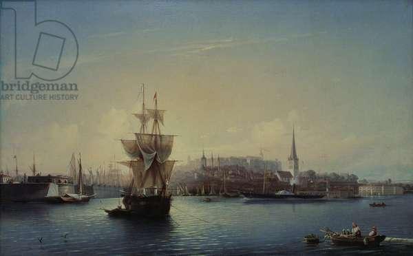 Tallinn Harbour, 1853 (oil on canvas)