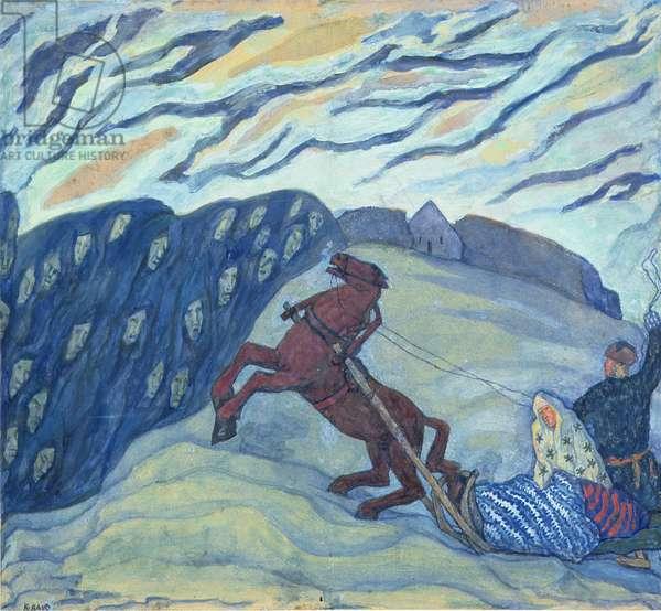 Return Homewards, 1920 (tempera on canvas)
