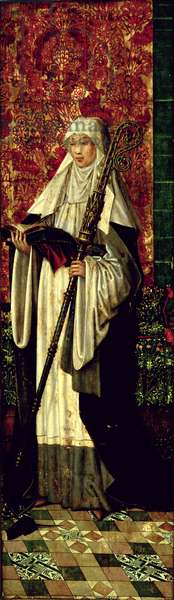 St. Gertrude from the Polyptych of the Confraternity of the Black Heads, c.1495 (oil on panel)