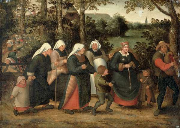 The Procession of the Bride (oil on panel) (see 198004)