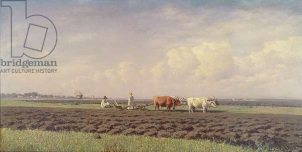 Ploughmen in the Ukraine, 1879 (oil on canvas)