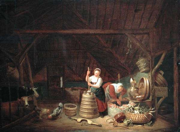 Dutch Barn (oil on panel)