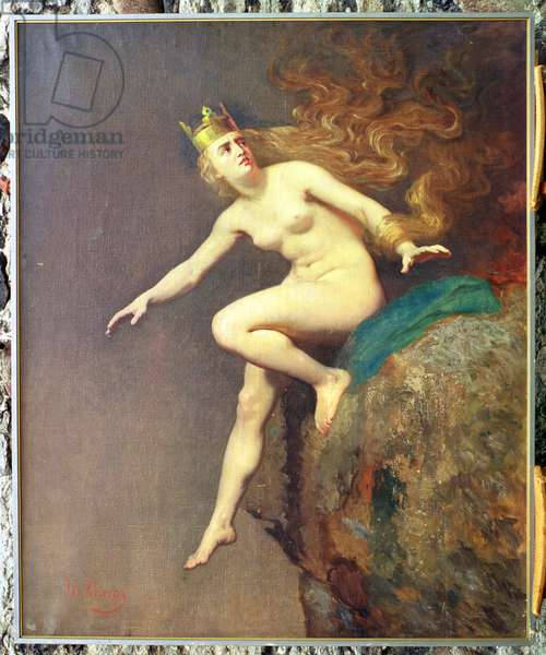 Lorelei, a study for the painting 'The Imprecation of Lorelei by the Monks', 1887 (oil on canvas)