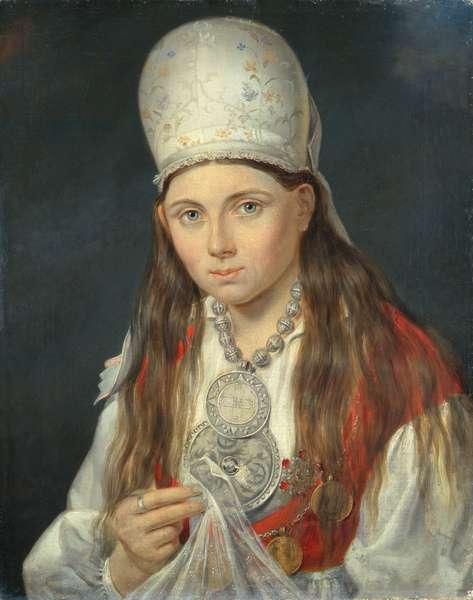 Estonian Girl, 1852 (oil on canvas)