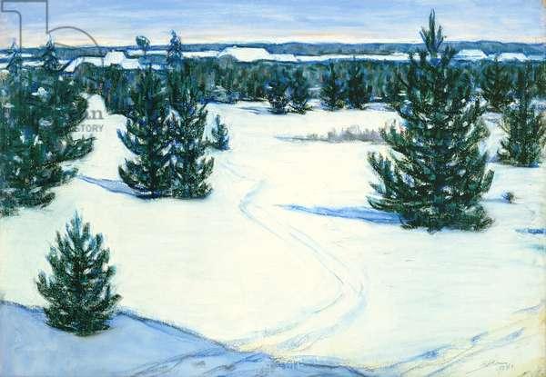 Winter Landscape, 1938 (pastel on paper)