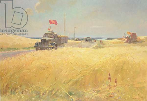We Give the Harvest to the State, 1953 (oil on canvas)