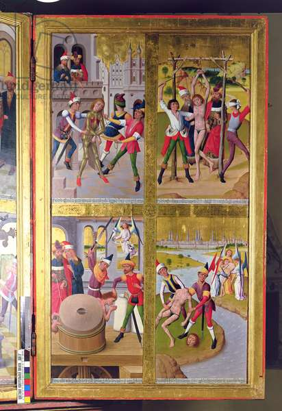 Scenes from the Life of St. Victor from the Inner Section of the Right Exterior Wing of the Former Main Altar in St. Nicholas's Church, 1481 (tempera on panel)