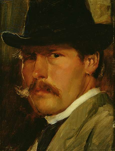 Self Portrait in a Hat, 1900 (oil on canvas)