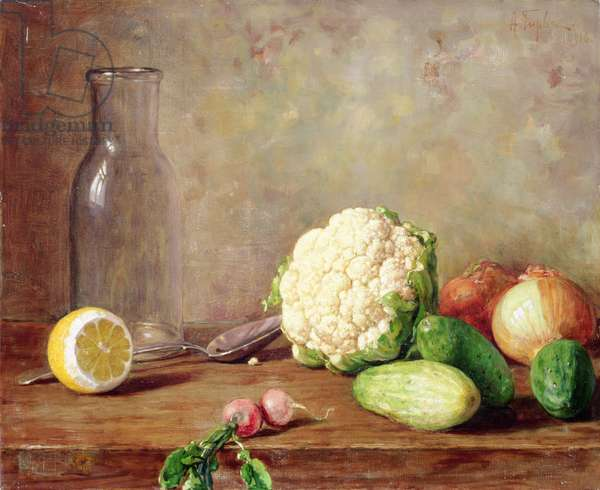 Still Life with Cauliflower, 1916 (oil on canvas)